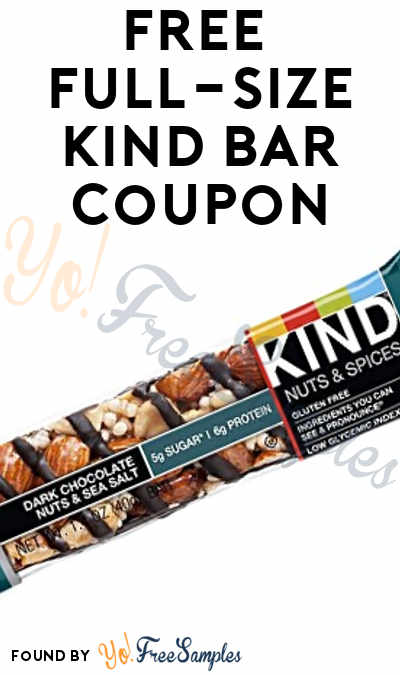 FREE Full-Size KIND Bar Coupon