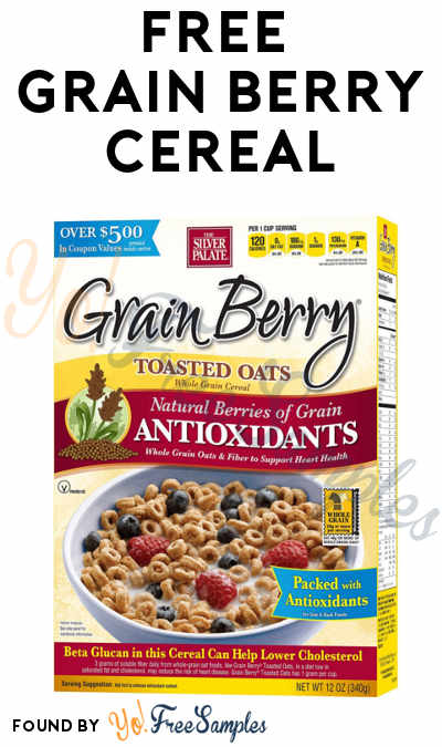 TODAY ONLY: FREE Grain Berry Cereal ($6.99 Value) From Dr. Oz At 12PM EST / 11AM CST / 9AM PST