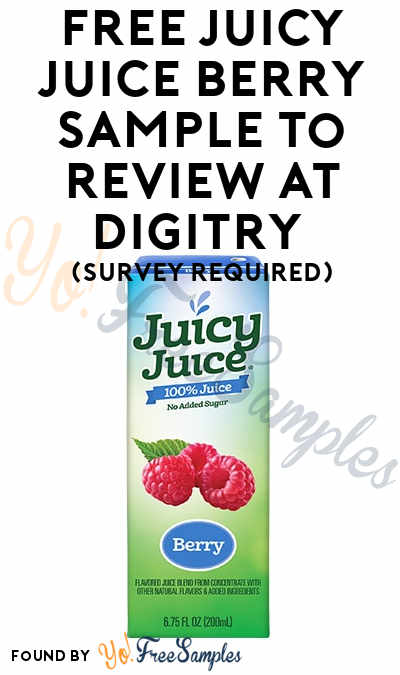 FREE Juicy Juice Berry Sample To Review At Digitry (Survey Required)