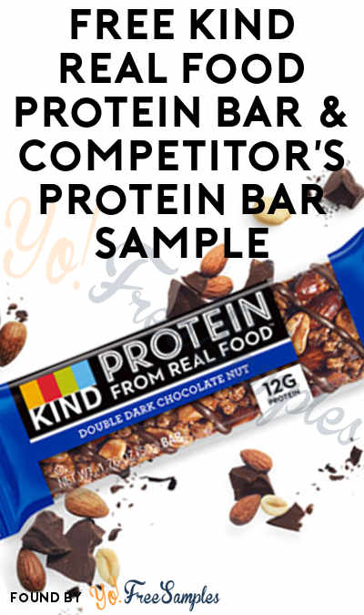 FREE KIND Real Food Protein Bar & Competitor's Protein Bar Sample