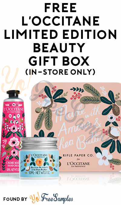 FREE LOccitane Limited Edition Beauty Gift Box In Store Only