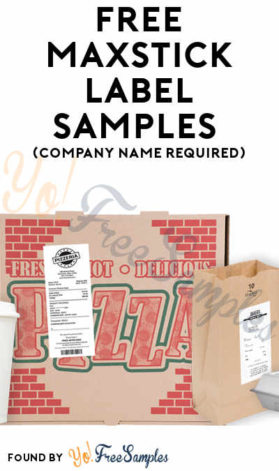 FREE MAXStick Label Samples (Company Name Required)