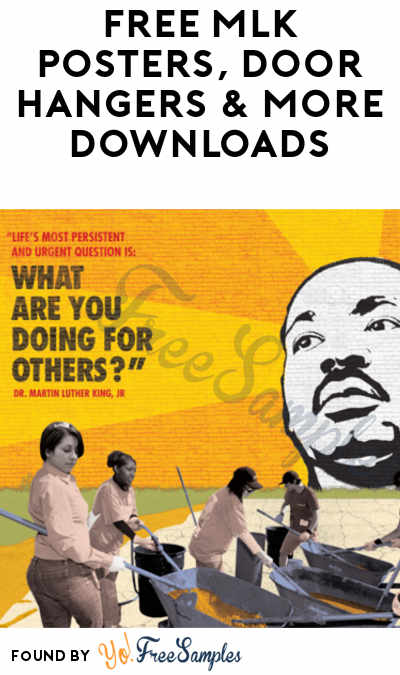 FREE MLK Posters, Door Hangers & More Downloads