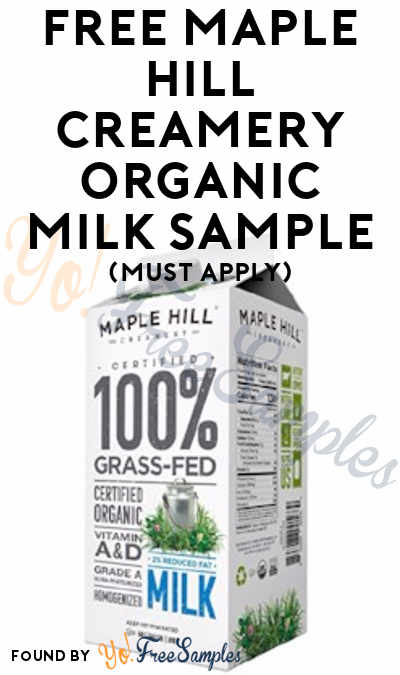FREE Maple Hill Creamery Organic 2% Milk or Whole Milk From ViewPoints (Must Apply)