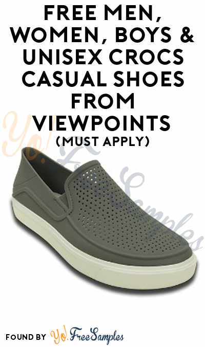 FREE Men, Women, Boys & Unisex Crocs Casual Shoes From ViewPoints (Must Apply)