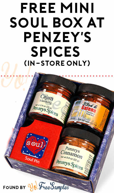 FREE Mini Soul Box At Penzey's Spices (In-Store Only)