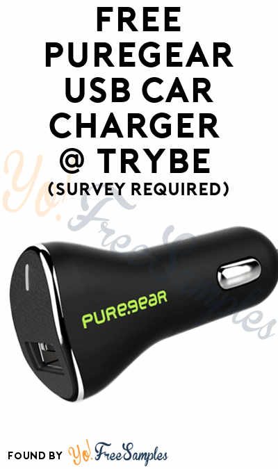 FREE PureGear USB Car Charger At Trybe (Survey Required)