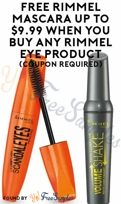 FREE Rimmel Mascara Up To $9.99 When You Buy Any Rimmel Eye Product (Coupon Required)