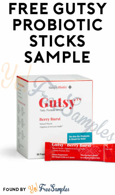 FREE SimplyBiotix Gutsy Probiotic Sticks Sample