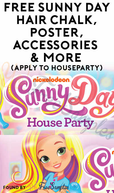 FREE Sunny Day Hair Chalk, Poster, Accessories & More (Apply To HouseParty)