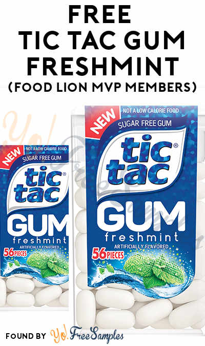 FREE Tic Tac Gum Freshmint (Food Lion MVP Members)