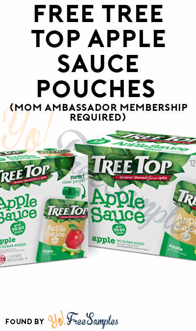 FREE Tree Top Apple Sauce Pouches (Mom Ambassador Membership Required)