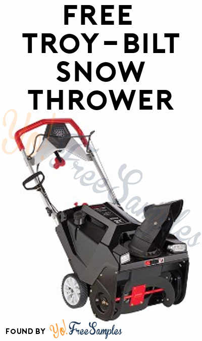 FREE Troy-Bilt Snow Thrower From ViewPoints (Must Apply)