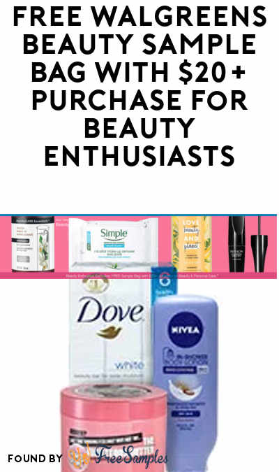 Back Again: FREE Walgreens Beauty Sample Bag With $20+ Purchase For Beauty Enthusiast Members