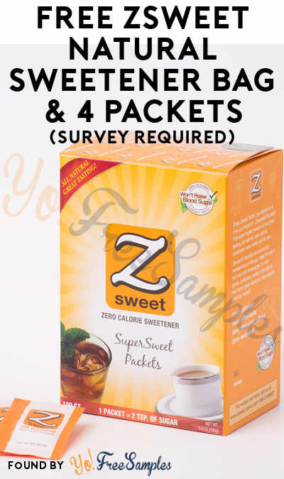Back In Stock: FREE Zsweet Natural Sweetener SuperSweet Packets & Granulated Zsweet Bag (Survey Required) [Verified Received By Mail]
