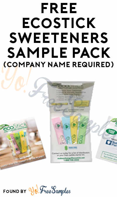 FREE ecoStick Sweeteners Sample Pack (Company Name Required)
