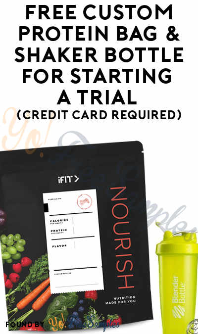 FREE iFit Custom Protein 15-Serving Bag & Shaker Bottle For Starting A Trial (Credit Card Required)