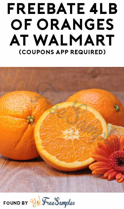FREEBATE 4LB of Oranges At Walmart (Coupons App Required)