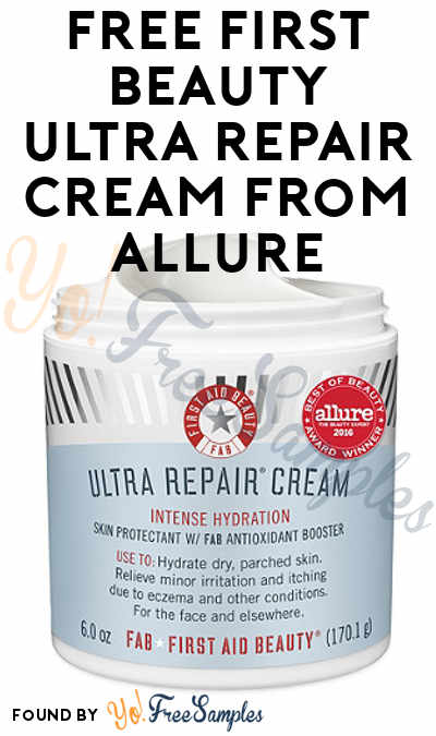Goes Fast: FREE First Beauty Ultra Repair Cream From Allure