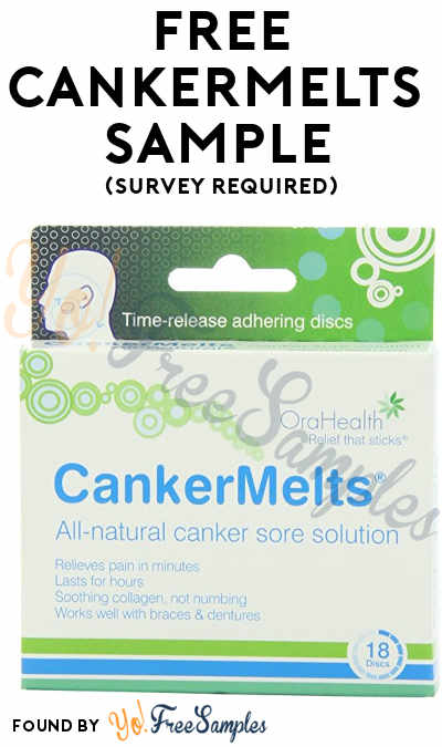 Possible FREE CankerMelts Canker Sore Relief Sample (Survey Required)