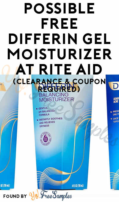 Possible FREE Differin Gel Moisturizer At Rite Aid (Clearance & Coupon Required)