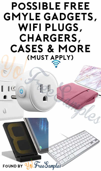 Possible FREE GMYLE Gadgets, WiFi Plug, USB Fingerprint Reader, Chargers, Cases & More (Must Apply)