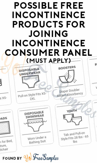 Possible FREE Incontinence Products For Joining Incontinence Consumer Panel (Must Apply)