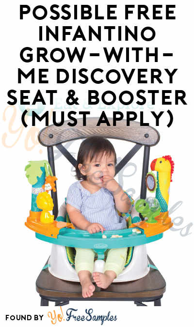 Possible FREE Infantino Grow-With-Me Discovery Seat & Booster (Must Apply)