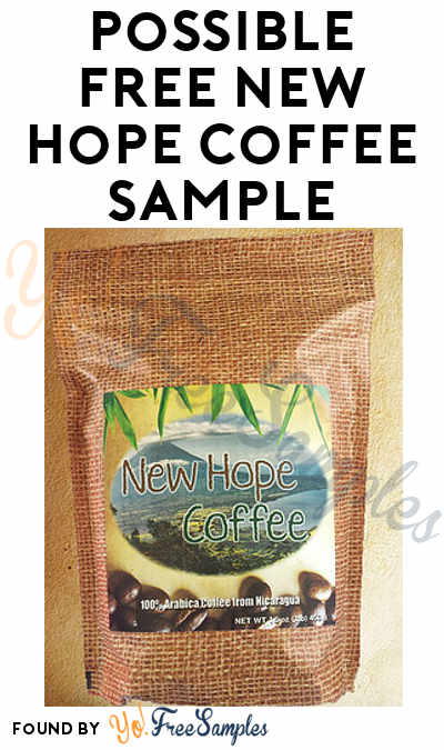 Possible FREE New Hope Coffee Sample