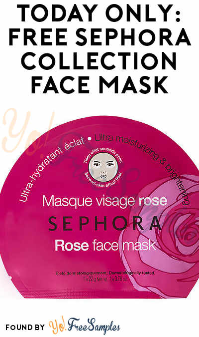 TODAY ONLY: FREE Sephora Collection Face Mask After Skin Reading In-Store On 1/26