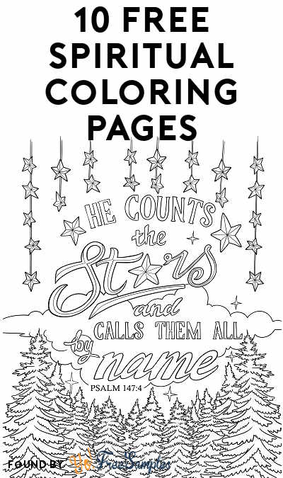 10 FREE Spiritual Coloring Pages Download