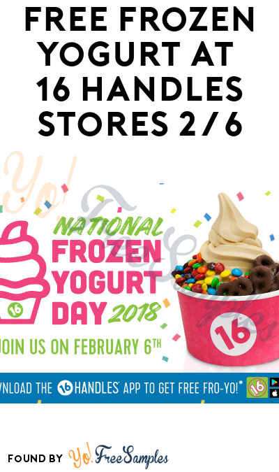 TODAY ONLY: FREE Frozen Yogurt At 16 Handles 2/6 From 12-6PM (Mobile App Required)