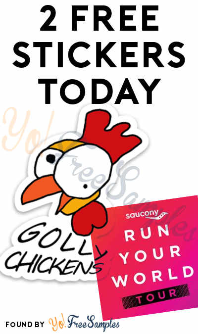 2 FREE Stickers Today: Golly Chickens Sticker & Run Your World Sticker