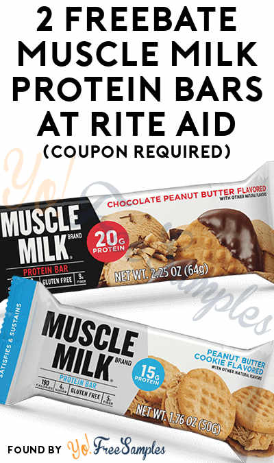 2 FREEBATE Muscle Milk Protein Bars At Rite Aid (Coupon Required)