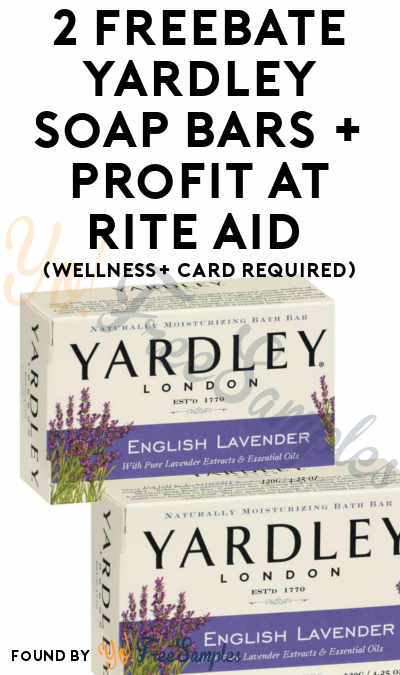 2 FREEBATE Yardley Soap Bars + Profit At Rite Aid (Wellness+ Card Required)