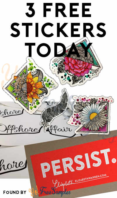 3 FREE Stickers Today: Miranda Marshall Art Sticker, Persist Sticker & Offshore Affair Sticker