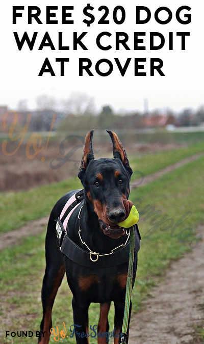 FREE $20 Dog Walk Credit At Rover