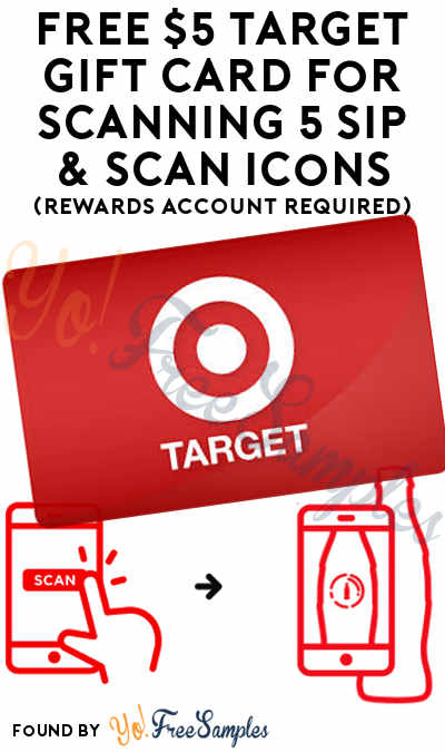 FREE $5 Target Gift Card For Scanning 5 Sip & Scan Icons (Rewards Account Required)