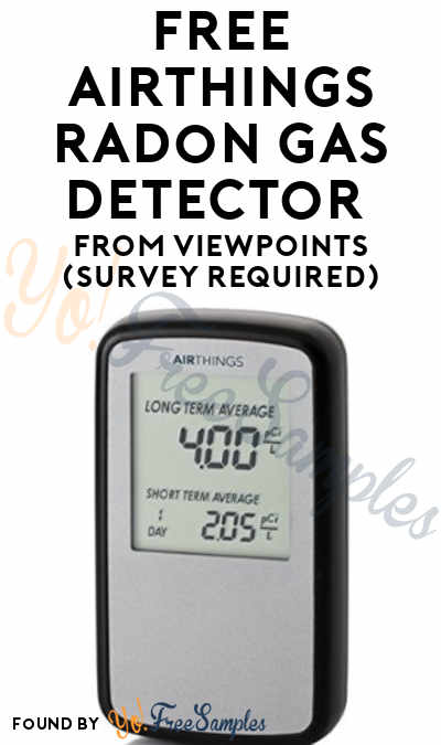 FREE Airthings Radon Gas Detector From ViewPoints (Survey Required)