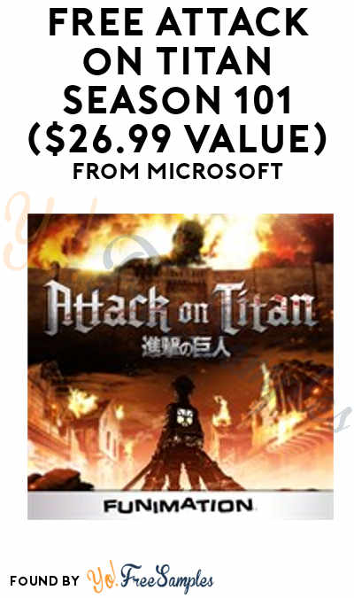 FREE Attack on Titan Season 101 ($26.99 Value) From Microsoft