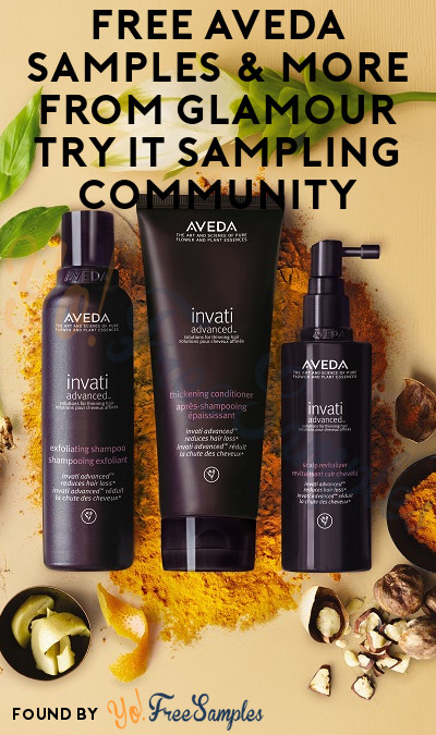 FREE Aveda Samples & More From Glamour Try It Sampling Community