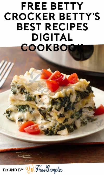 FREE Betty Crocker Betty's Best Recipes Digital Cookbook