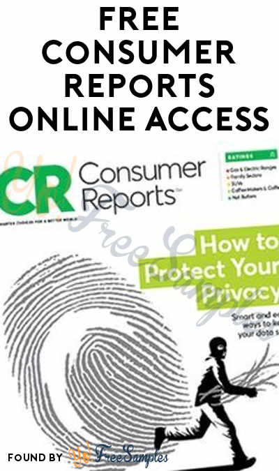 TODAY (2/12) ONLY: FREE Consumer Reports Online Access