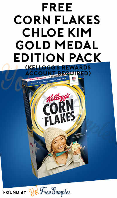 FREE Corn Flakes Chloe Kim Gold Medal 2018 Edition Pack (Kellogg's Rewards Account Required) [Verified Received By Mail]