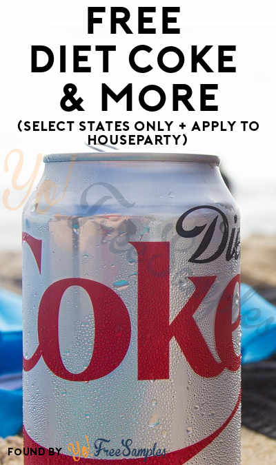 FREE Diet Coke & More (Select States Only + Apply To HouseParty)