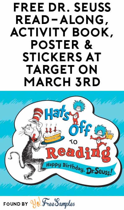 TODAY: FREE Dr. Seuss Read-Along, Activity Book, Poster & Stickers At Target On March 3rd