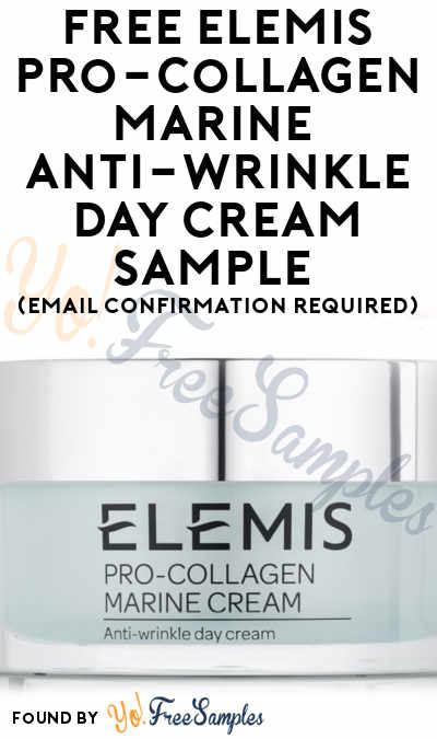 FREE Elemis Pro-Collagen Marine Anti-Wrinkle Overnight Cream Sample (Cell Phone Confirmation Required)