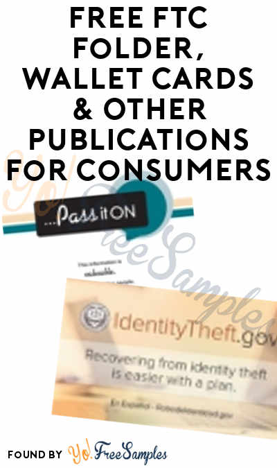 FREE FTC Folder, Wallet Cards & Other Publications For Consumers