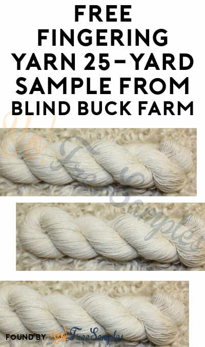 FREE Fingering Yarn 25-Yard Sample From Blind Buck Farm