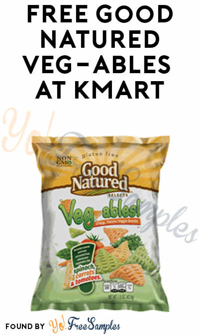 TODAY ONLY: FREE Good Natured Veg-ables 4.5 – 7.5 oz At Kmart